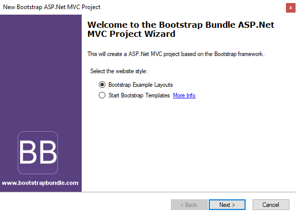 MVC Bootstrap Template 5